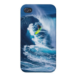 Surfer on Green Surfboard iPhone 4 Case
