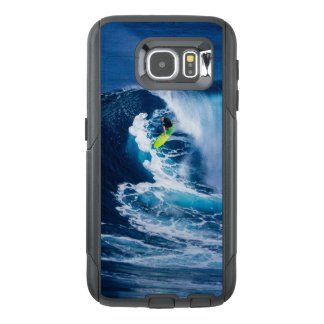 Surfer on Green Surfboard OtterBox Samsung Galaxy S6 Case
