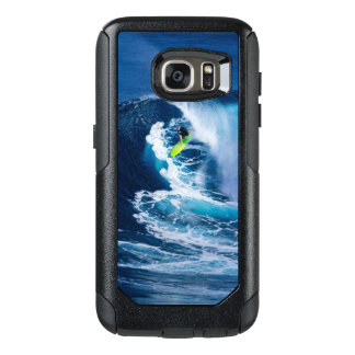 Surfer on Green Surfboard OtterBox Samsung Galaxy S7 Case