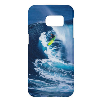 Surfer on Green Surfboard Samsung Galaxy S7 Case