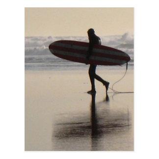 Surfer on Ocean Beach Postcard