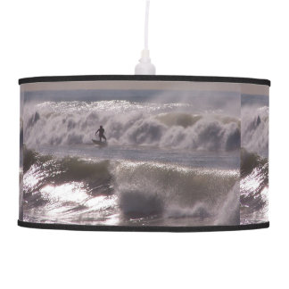 Surfer on Storm Waves Lamp