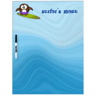 surfer owl dry erase whiteboards