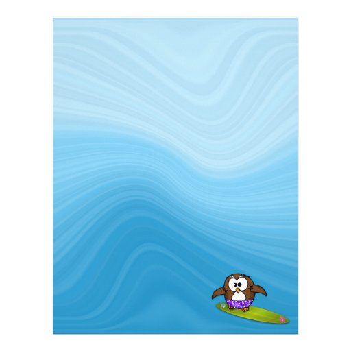 surfer owl customized letterhead