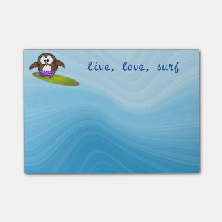 surfer owl post-it® notes