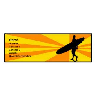 Surfer Pack Of Skinny Business Cards