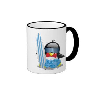 Surfer Penguin Mugs