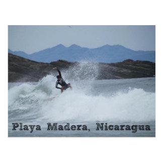 Surfer Playa Madera, Nicaragua Postcard