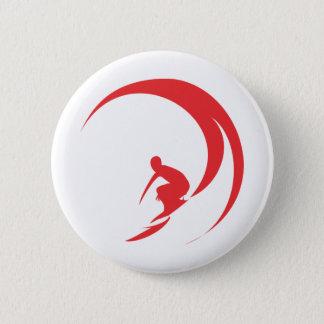 Surfer Red 2 Inch Round Button