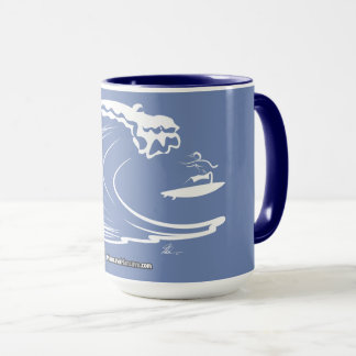 Surfer Riding Wave Coffee Mug