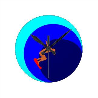 Surfer Round Clock