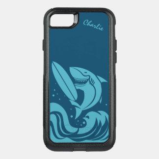 Surfer Shark custom name phone cases