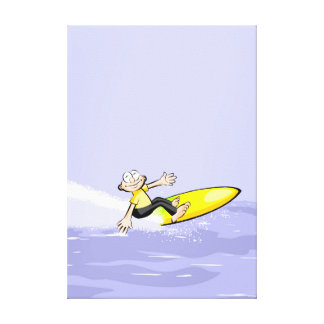 Surfer shows happy its feat canvas print
