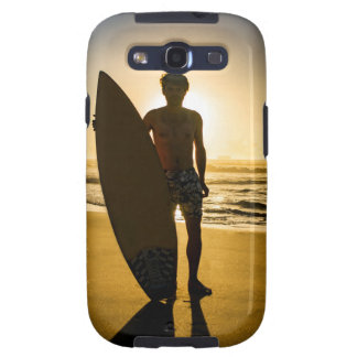 Surfer silhouette during sunrise galaxy s3 covers