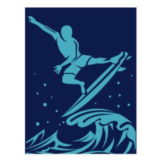 Surfer Silhouette postcard