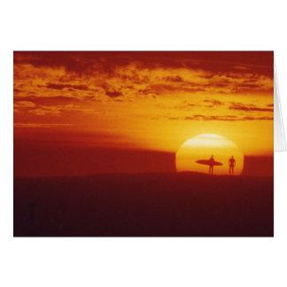 Surfer Sunset Card