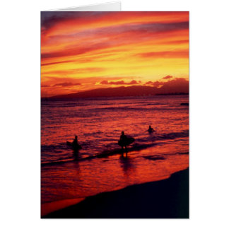 surfer sunset card