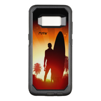 Surfer Sunset custom monogram phone cases