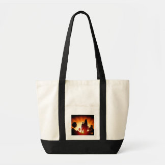 Surfer Sunset custom monogram tote bags