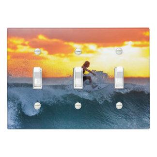 Surfer sunset indian ocean light switch cover