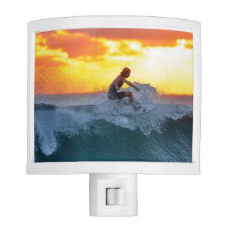 Surfer sunset indian ocean nite lites