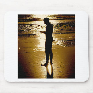 Surfer Sunset Mouse Pad