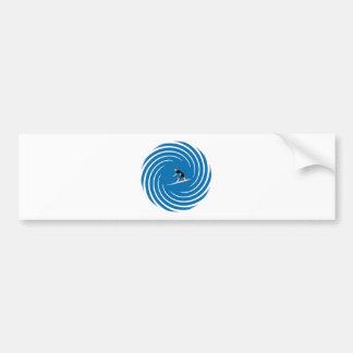 Surfer - Surfeur Bumper Sticker