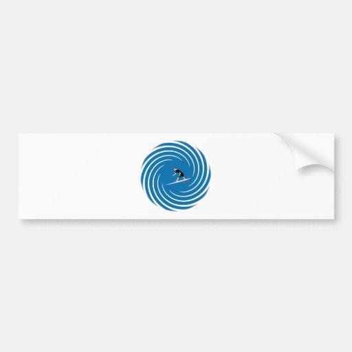 Surfer - Surfeur Bumper Stickers