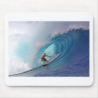 Surfer surfing a huge wave. mouse pad