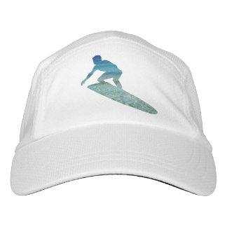 Surfer Surfing Aqua Blue Ocean Abstract Hat