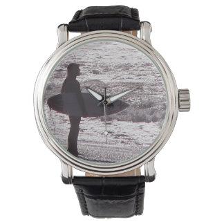 Surfer Surfing Ocean Beach Waves Sea California Wristwatches