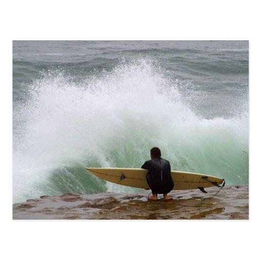 Surfer Surfing Postcard