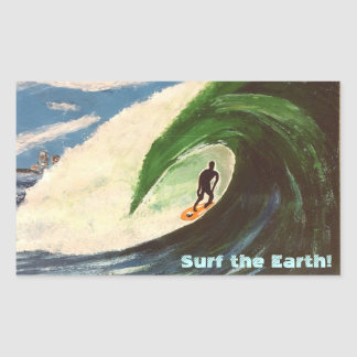 Surfer Surfing Surf the Earth off hawaii sticker