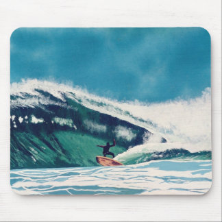 Surfer Surfing Tube Ride Wave Ocean Sea Mouse Pad