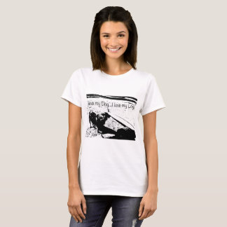 Surfer T Shirt Love My Dog Love My Log Longboarder