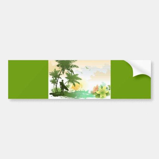 Surfer Theme Bumper Stickers