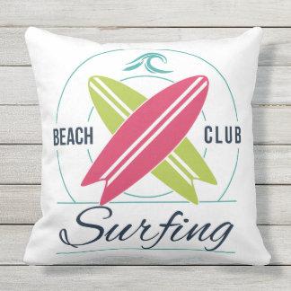 Surfer throw pillows