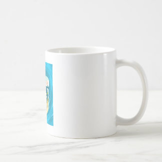 Surfer under a wave tunnel classic white coffee mug