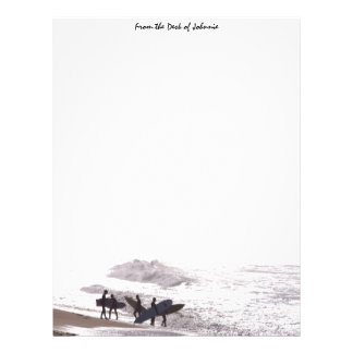 Surfers Beach Personalized Letterhead