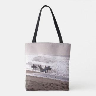 Surfers Beach Surfing Ocean Waves Sea Tote Bag