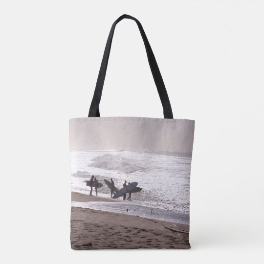 Surfers Beach Surfing Ocean Waves Sea Tote Bag