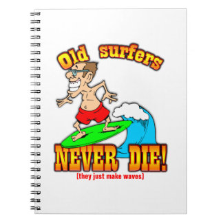 Surfers Spiral Note Books