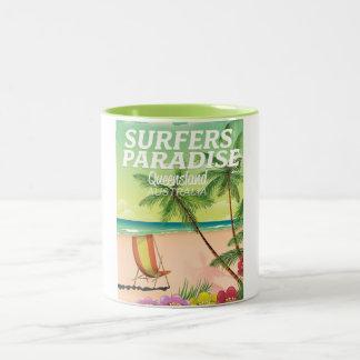 Surfers Paradise Queensland Australia Two-Tone Coffee Mug
