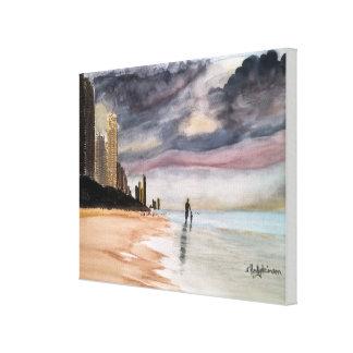 SURFERS PARADISE Queensland Australia WATERCOLOR Canvas Print
