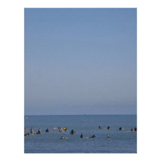surfers waiting a wave letterhead