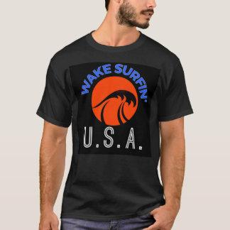 "SURFESTEEM Co. Brand - ""WAKE SURFIN' U.S.A."" T-Shirt"