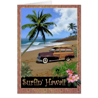 Surfin' Hawaii Card