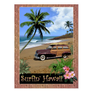 Surfin' Hawaii Postcard