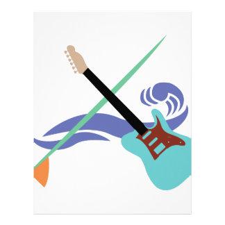 Surfin' Music Customized Letterhead