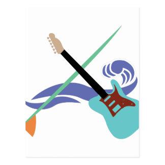Surfin' Music Postcard